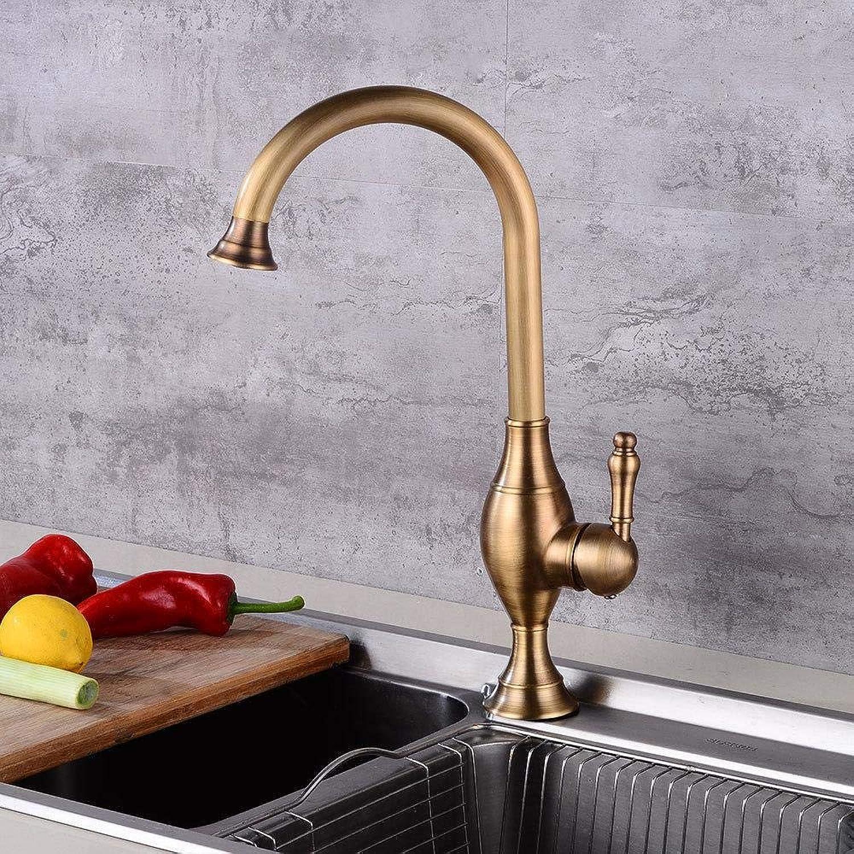 Tap Kitchen Faucet Copper Antique Hot and Cold Water Faucet Sink Sink Antique Faucet