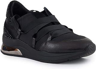 Liu Jo Jeans Liu Jo B68001 Karlie 03 Satin Strass Sneaker Donna Nera MainApps