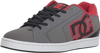 DC Men's NET Skate Shoe, grey/black/grey, 9 D M US
