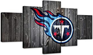 MIAUEN Wall Art Tennessee Titans Pictures Canvas Poster Living Room Decor Sports Football Home Decoration Prints Framed Painting Ready to Hang(60''Wx32''H)