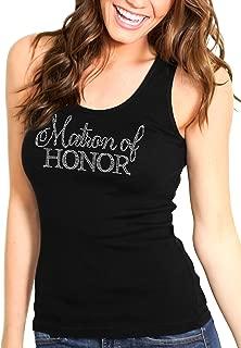RhinestoneSash Matron of Honor Shirts - Flirty Matron of Honor Tank Tops for Women - Bachelorette Party Shirts & Supplies