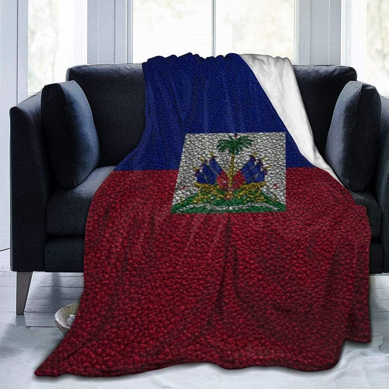 Haiti Flag7 Fleece security Blanket C Lightweight Super Louisville-Jefferson County Mall Soft