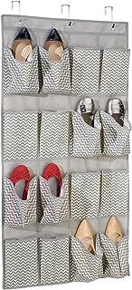 mDesign étagère suspendue en tissu avec 16 poches pour le rangement – rangement suspendu parfaite pour les chaussures – sa...