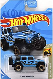 Hot Wheels 2019 Baja Blazers '17 Jeep Wrangler 13/250, Blue