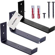 HOLZBRINK Plank houder, Metalen schapbeugel, boekenkast keukenplank, bloembed, muurbeugel zwart 250mm, 10 stukken, HLR-J-2...