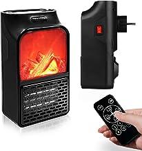 Estufa enchufe, Calefactor de enchufe, eléctrico de bajo consumo para baño, habitación y oficina, Mini Calefactor eléctrico escritorio de aire caliente. 1000 W.