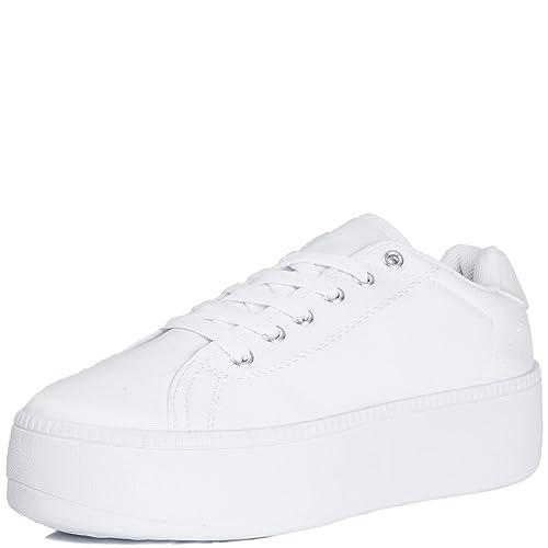6e25019d495f Spylovebuy A-OK Women s Flat Chunky Lace Up Flatform Platform Trainer Shoes