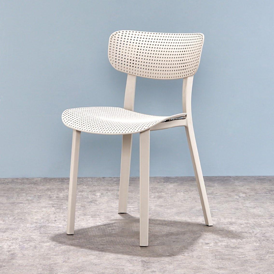 HURONG168 Chaises de cuisine Nordique moderne loisir minimaliste chaise dorsale accueil restaurant café adulte diner chaise siège lounge (Couleur : Blanc) Gray