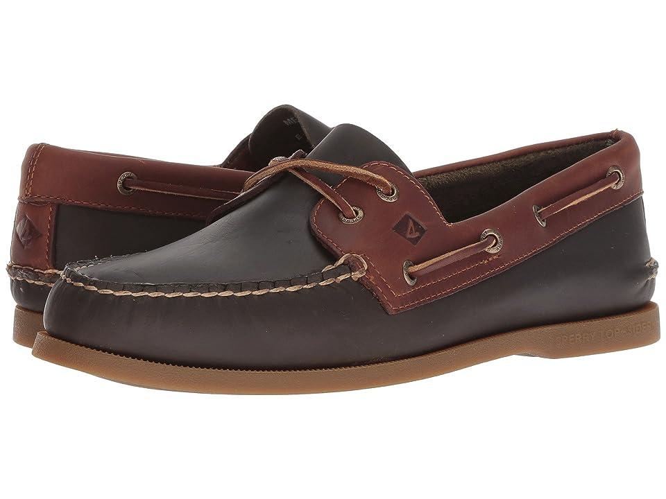 Sperry A/O 2-Eye Richtown Pullup Boat Shoe (Olive/Tan) Men