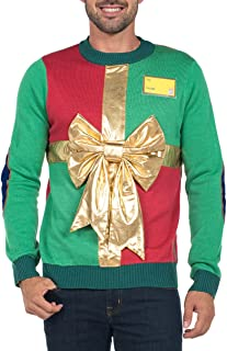 Men's Ugly Christmas Sweater - Funny Green Sweater