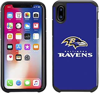 Prime Brands Group Cell Phone Case for Apple iPhone X - NFL Licensed Baltimore Ravens Textured Solid Color