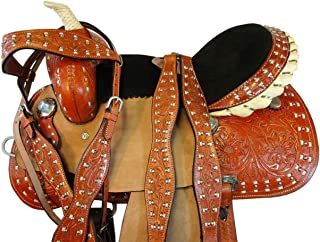 Western Trail Comfy Riding Pleasure Barrel Racing Show Leather Horse Saddle 15 16