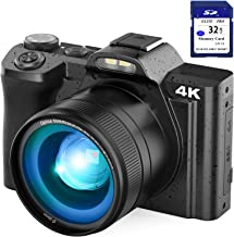 "4K Digital Camera Video Camera for YouTube, Kenuo 48MP Vlogging Camera Camcorder with WiFi, 3.5"" IPS Touch Screen, Wide An..."