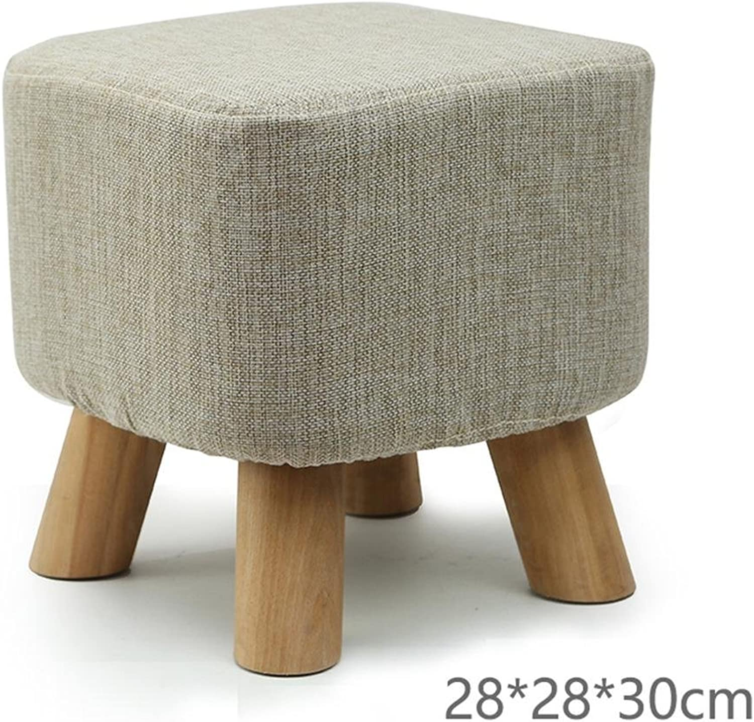 Creative Changing shoes Stool Low Stool Square Stool Solid Wood Sofa Household Coffee Table Adult 28  28  30CM, 2,Strong