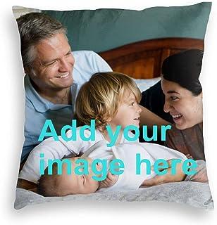 Sitanfo Funda de Almohada Personalizada con Foto y Texto,Cojines Personalizados Foto Fundas Cojines Regalo Original con Fotos para Mujer Amiga Mama