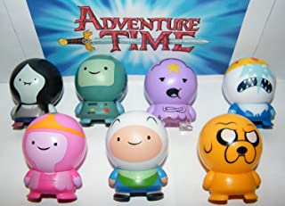 Adventure Time Buildable Toy Figure Set of 7 with Finn, Jake, Lumpy, BMO, Marceline Etc and Bonus Special Tattoo!