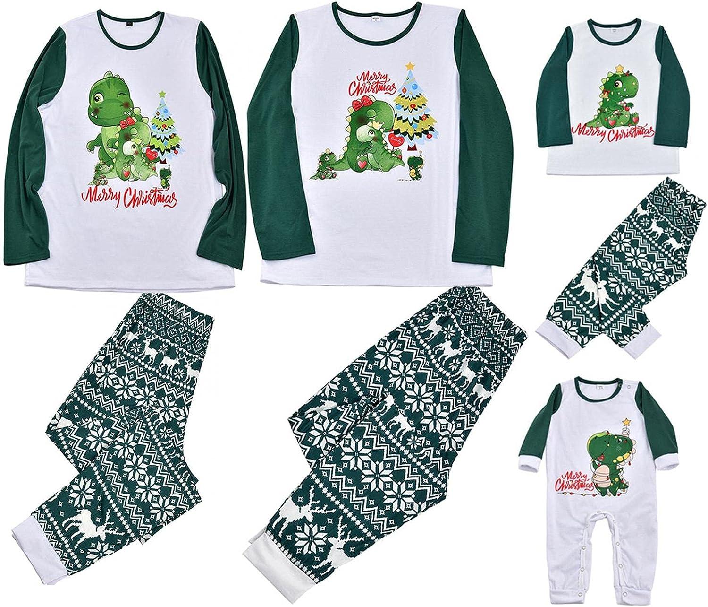 Family Christmas Pjs Matching Sets Sleepwear Xmas Merry Christmas Long Sleeve Pajamas Sets