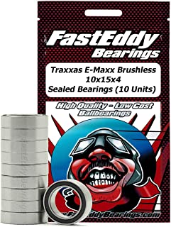Traxxas E-Maxx Brushless 10x15x4 Sealed Ball Bearings for RC Cars (10 Units)