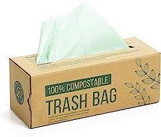 150 compost afvalzak, 6L 8L 10L afvalzak voor keukenafval, 100% afbreekbare afvalzak is gemaakt van maïszetmeel met de...