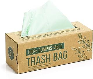 150 compost afvalzak, 6L 8L 10L afvalzak voor keukenafval, 100% afbreekbare afvalzak is gemaakt van maïszetmeel met de cer...