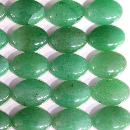 8x10mm Oval Gemstone Green Aventurine Jade Beads Strand 15 Inch Jewelry Making Beads