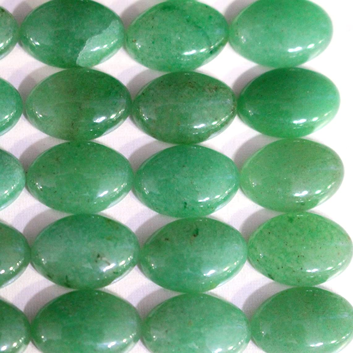 10pcs Stone Natural Real Gemstones Green Aventurine Oval 10*14mm Cabochons for Jewelry Making Beads Cabs
