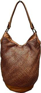 BZNA Bag Taina cognac Italy Designer Damen Handtasche Schultertasche Tasche Leder Shopper Neu