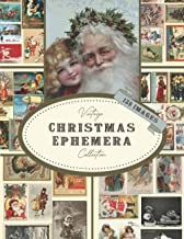 Vintage Christmas Ephemera Collection: Aesthetic Collage Art Journaling, Scrapbooking, and Mixed Media Images To Cut Out a...