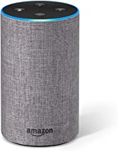 Certified Refurbished Echo (2nd Generation) - Smart speaker with Alexa – Heather Gray Fabric