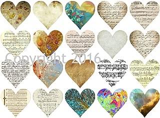 Valentine's Day Ephemera Hearts Collage Sheet #115 for Altered Art, Scrapbooking, Design, Cards