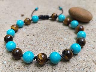 Bracelets,Turquoise stones bracelets,Tiger eye stone bracelets,It is fashionable for both women,Use as a gift.