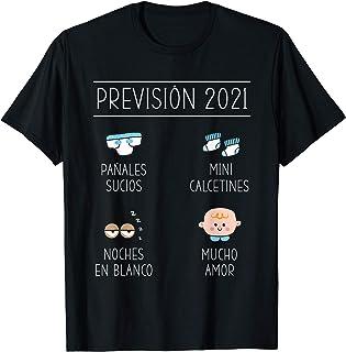 Padres 2021 Dichos y Regalos Primerizos Embarazo, Papá Mamá Prévision 2021 Anuncio Embarazada Nacimiento Bebé Camiseta