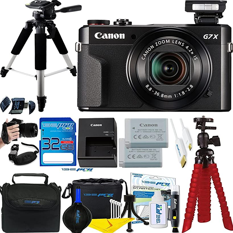 Canon PowerShot G7 X Mark II 20.1MP 4.2x Optical Zoom Digital Camera + Accessories Bundle - International Version
