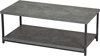 Household Essentials Coffee Table with Storage Shelf