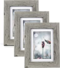 Picture Frame Made of MDF Wood for Tabletop Display and Wall Mounting Photo Frame Grey (5x7-3Pack)