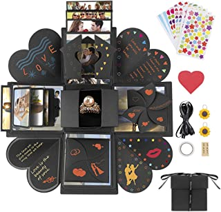 Jooheli Boîte à explosion, boîte surprise, album photo pliable et scrapbooking créatif pour Noël, anniversaire, fête des m...