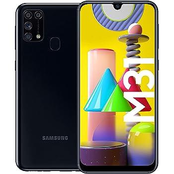 Samsung Galaxy M31 Android Smartphone ohne Vertrag, 4 Kameras, großer 6.000 mAh Akku, 6,4 Zoll Super AMOLED FHD+ Display, 64GB/6GB RAM, Handy in schwarz, deutsche Version exklusiv bei Amazon