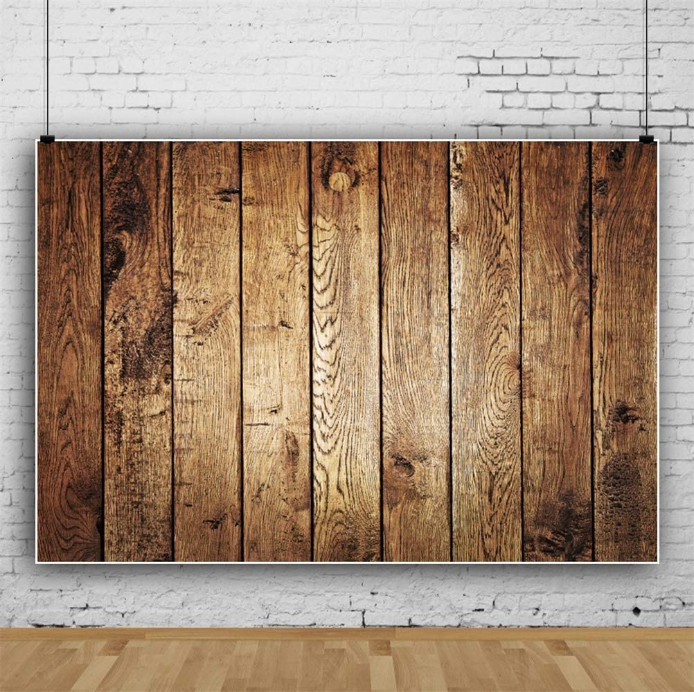 Laeacco Vintage Old Barn Backdrops 8x6ft Vinyl Rustic Vertical Striped Wood Plank Backdrop Weathered Grunge Wood Texture Wall Background Wooden Board Children Adults Country Style Photo Shoot