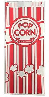Carnival King Paper Popcorn Bags, 1 oz, Red & White,