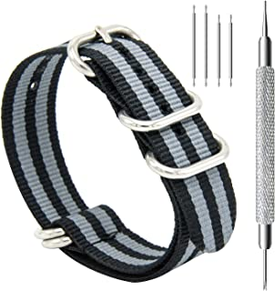 CIVO Heavy Duty G10 Zulu Military Watch Bands NATO Premium Ballistic Nylon Watch Strap 5 Rings with Stainless Steel Buckle 20mm 22mm 24mm