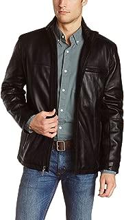 Men's Genuine Lambskin Leather Jacket (Black, Classic Jacket) - 1501135