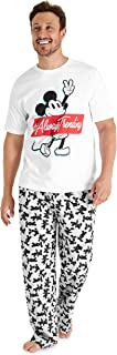 Disney Mens Pyjamas, Mickey Mouse Mens Pyjamas Set, Mens PJs Size S-3XL