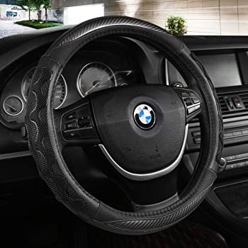 Car Steering Wheel Cover Universal Cartoon Microfiber Short Plush Breathable Auto Steering Wrap Black Cover Anti Slip /& Odor Free Accessories Fit 15 Inch for Car Truck SUV,D