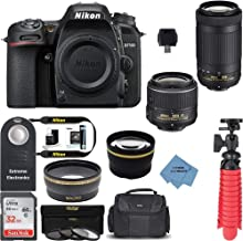 Nikon D7500 DSLR Camera with 18-55mm VR and 70-300mm VR Lenses w/ + Accessory Bundle + Extreme Electronics Cloth