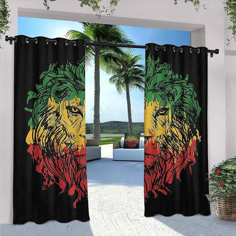5 ☆ very popular Rasta Waterproof Gazebo Curtains Ethiopian on Colors Grung Reservation Flag