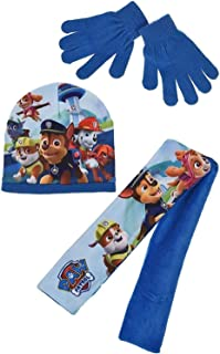 Boys Paw Patrol Winter Hat Scarf and Gloves Set
