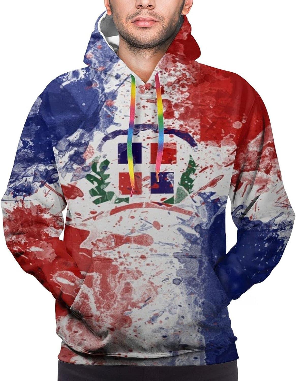 Hoodie For Teens Boys Girls Flag Of Dominican Republic Hoodies Fashion Sweatshirt Drawstring