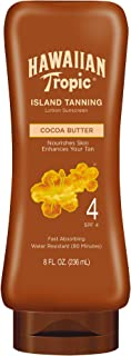 Hawaiian Tropic Sunscreen Protective Dark Tannning Sun Care Sunscreen Lotion, Cocoa Butter - SPF 4, 8 Ounce