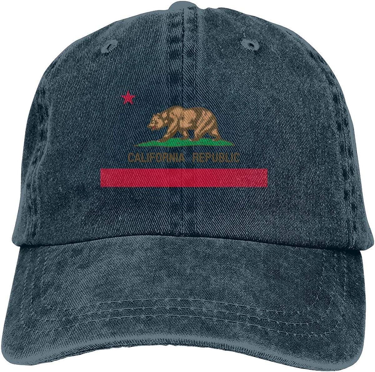 Max 86% OFF Denim Cap California Flag Dad Caps S OFFicial mail order Baseball Adjustable Classic