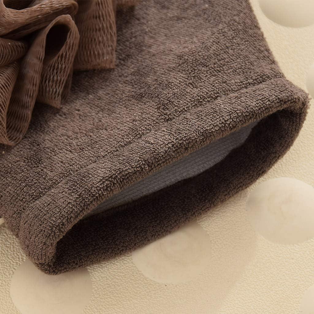 Khaki residentD Household Bath Glove Ball Washing Tools Thickening Massage Shower Towel Bathing Flower Bathing Body